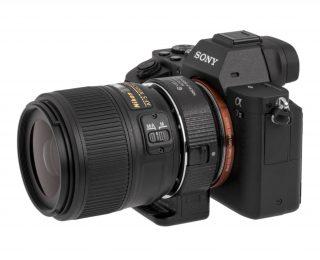 Vello lens adapter for Nikon lenses on E-Mount Sony cameras.