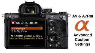 A7RIII and A9 Custom Settings