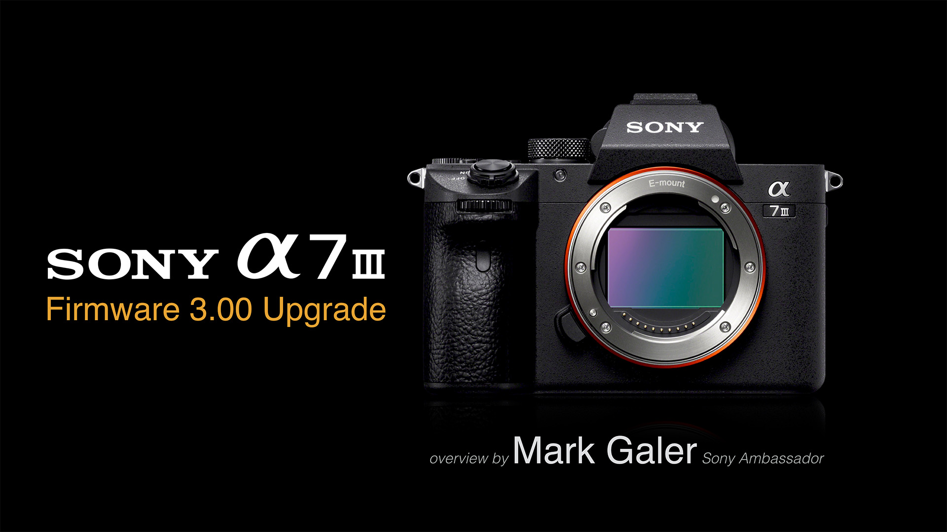 sony a7iii firmware update 2.1