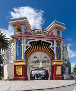 Vertical Panorama of Luna Park, Melbourne