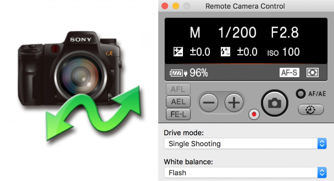 Shooting tethered using Sony's Remote Camera Control