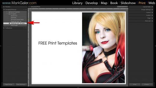 Free Lightroom Print Templates