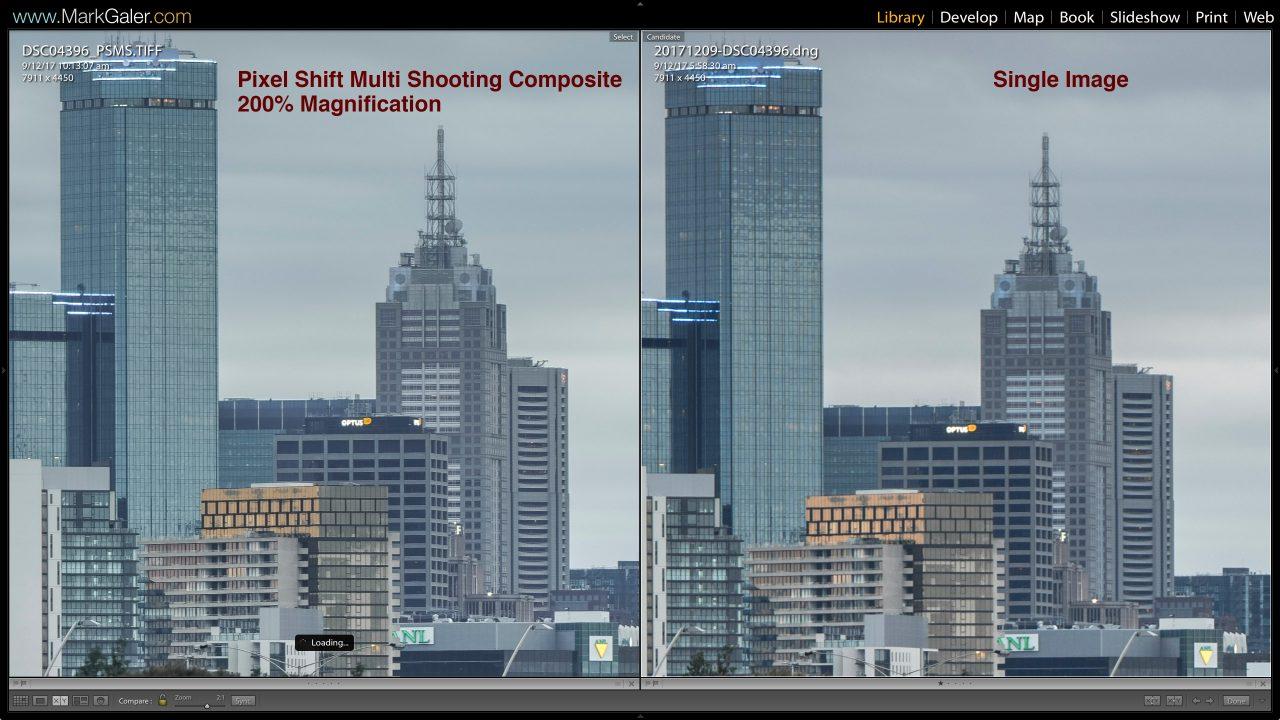 Comparison-test Pixel-Shift