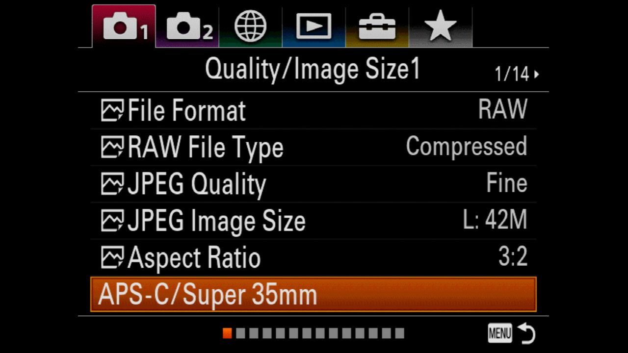 Why would you use the APS-C Mode on a Sony Alpha Full-Frame