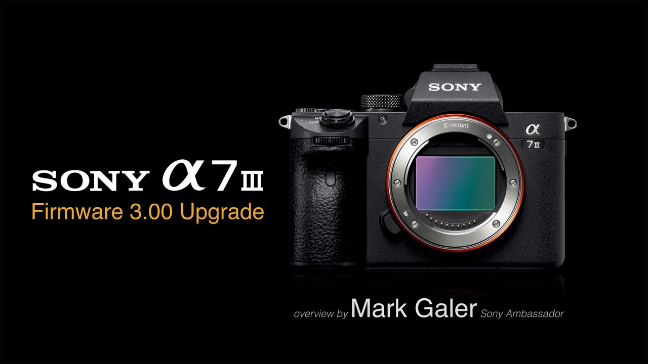 Sony A7M3 and A7RM3 Version 3 Firmware Update